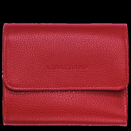 View 1 of Kompakt-Brieftasche, 608 Zinnoberrot, hi-res