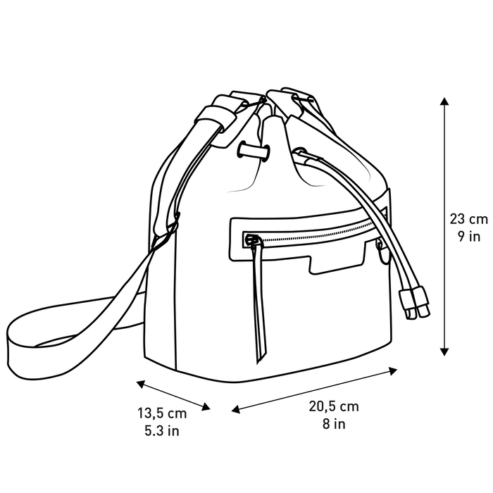 Bucket bag S, Red - View 4 of 4 - zoom in
