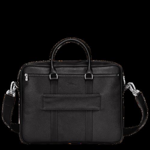 Briefcase M Le Foulonné Black (L2123021047) | Longchamp US