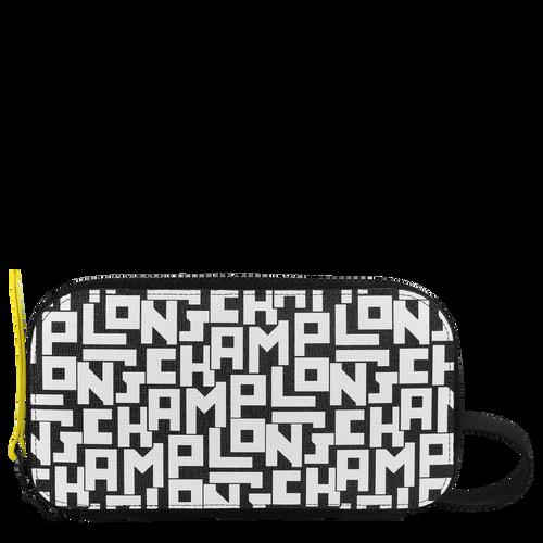 Long zip around wallet, Black/White, hi-res - View 1 of 3