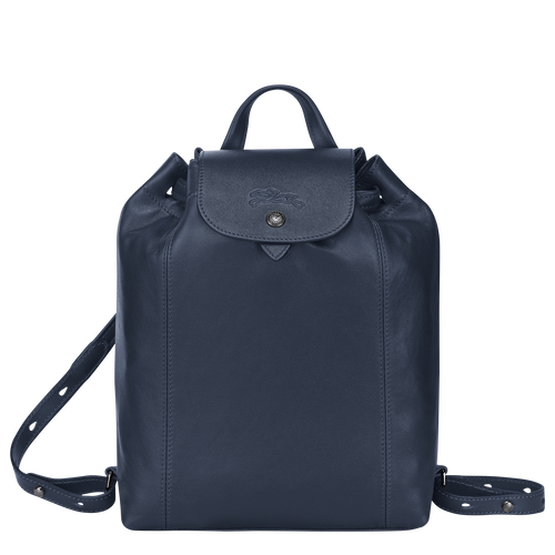 Le Pliage Cuir Backpack, Navy