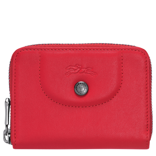 Zipped card holder, Red, hi-res - View 1 of 2
