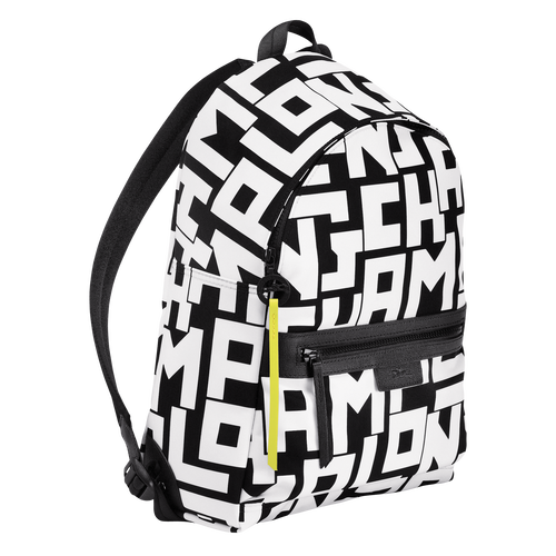 Backpack M, Black/White, hi-res - View 2 of 4