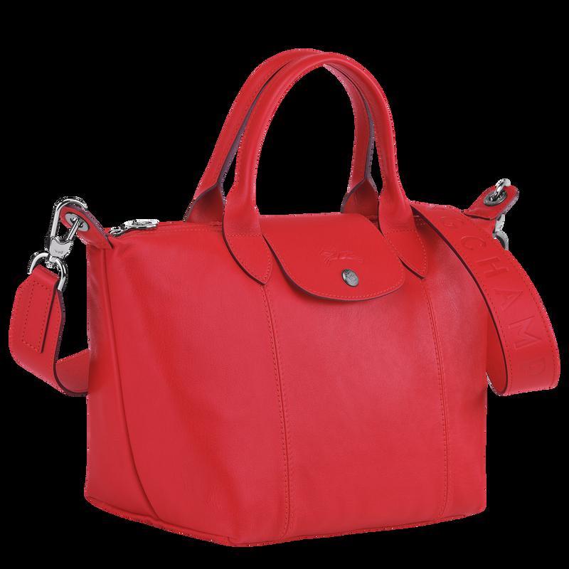 Le Pliage Cuir Top handle bag S, Red