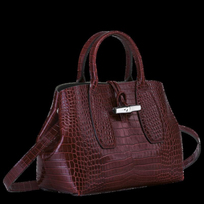 Top handle bag M, Burgundy - View 3 of  4 - zoom in
