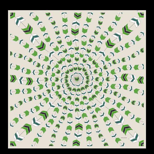 Ladies' stole, Green havana - View 1 of  1 -