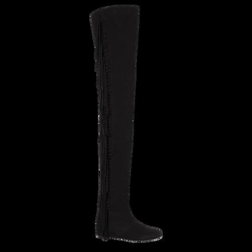Flat boots, 001 Black, hi-res