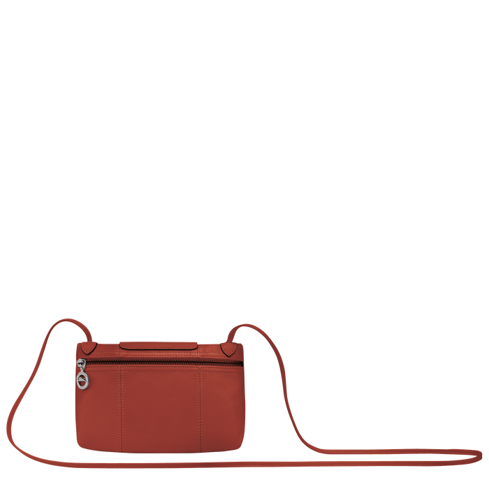 Le Pliage Cuir Crossbody bag, Sienna