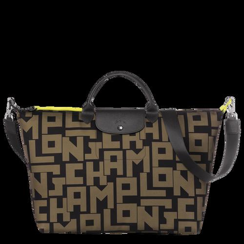 Travel bag, Black/Khaki, hi-res - View 1 of 3