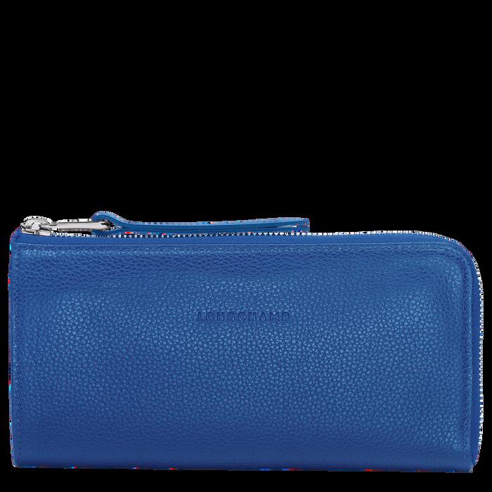 Le Foulonné Long zip around wallet, Sapphire