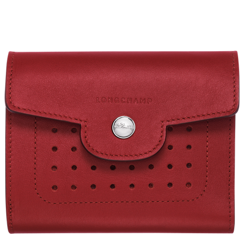 Compact wallet, Garnet red, hi-res - View 1 of 2