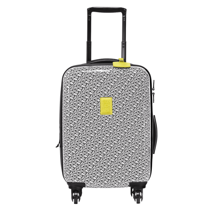 Small wheeled suitcase, Black/White, hi-res - View 1 of 3
