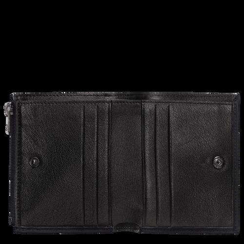 Brieftasche im Kompaktformat, Schwarz - Ansicht 2 von 2 -