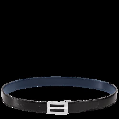 Men's belt, Black/Navy - View 3 of 3 -