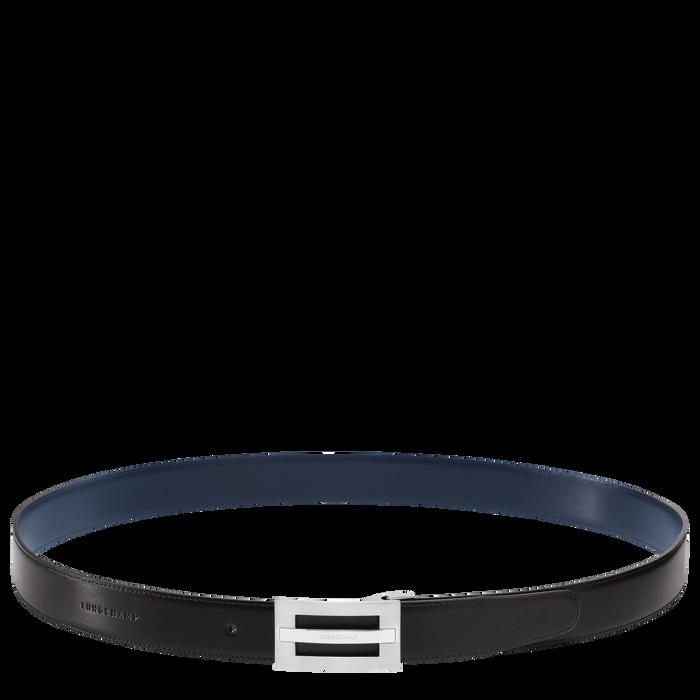 Men's belt, Black/Navy - View 3 of 3 - zoom in