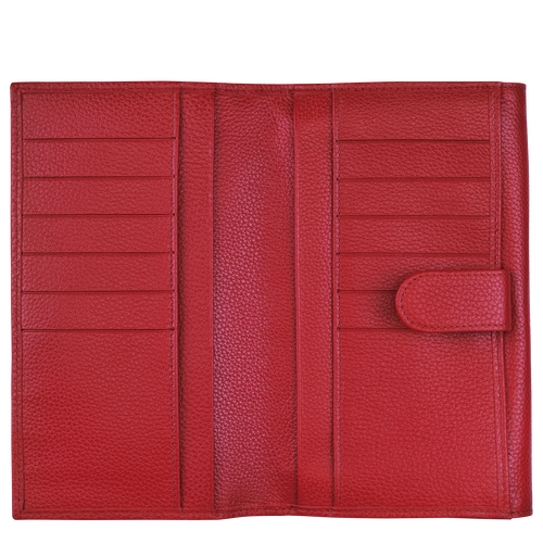 Le Foulonné Long continental wallet, Red