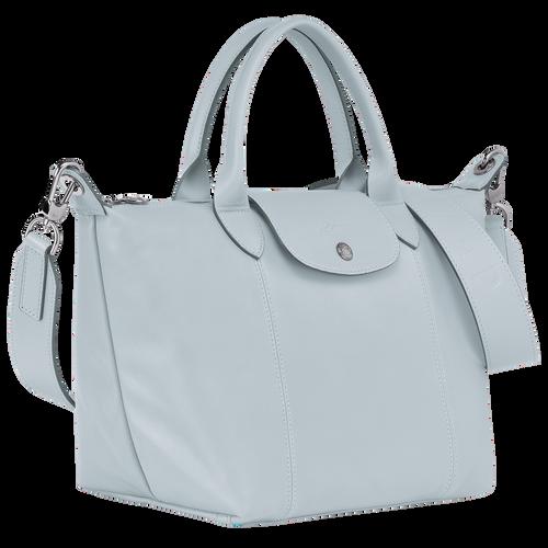 Le Pliage Cuir Top handle bag S, Sky Blue