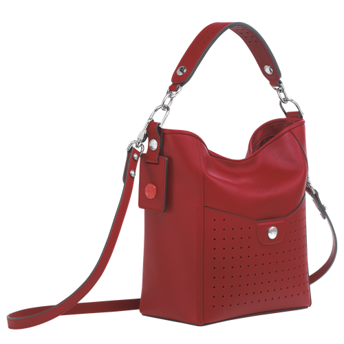 View 2 of Small bucket bag, Garnet Red, hi-res
