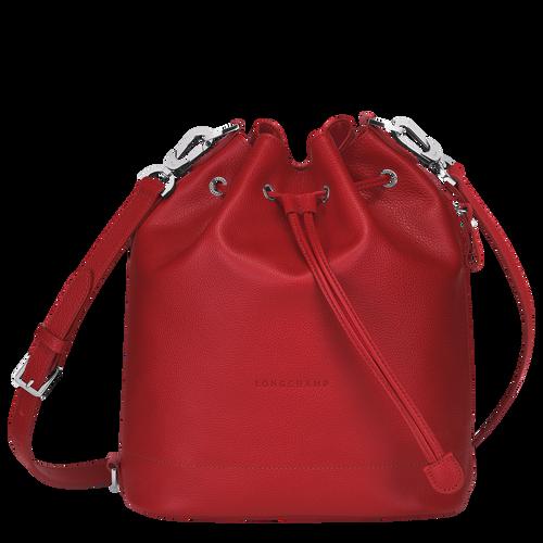 Sac seau M Le Foulonné Rouge (10062021545) | Longchamp FR