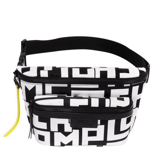 Belt bag L, Black/White, hi-res - View 1 of 2
