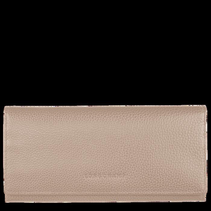 Le Foulonné Long continental wallet, Beige