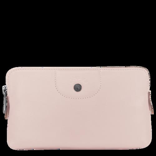 Pouch Le Pliage Cuir Pale pink (L4549757P53) | Longchamp US