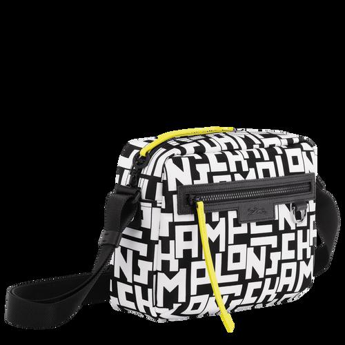 Crossbody bag M, Black/White, hi-res - View 2 of 4