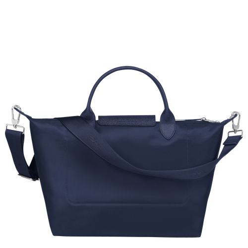 Top handle bag M, Navy - View 3 of  5 -