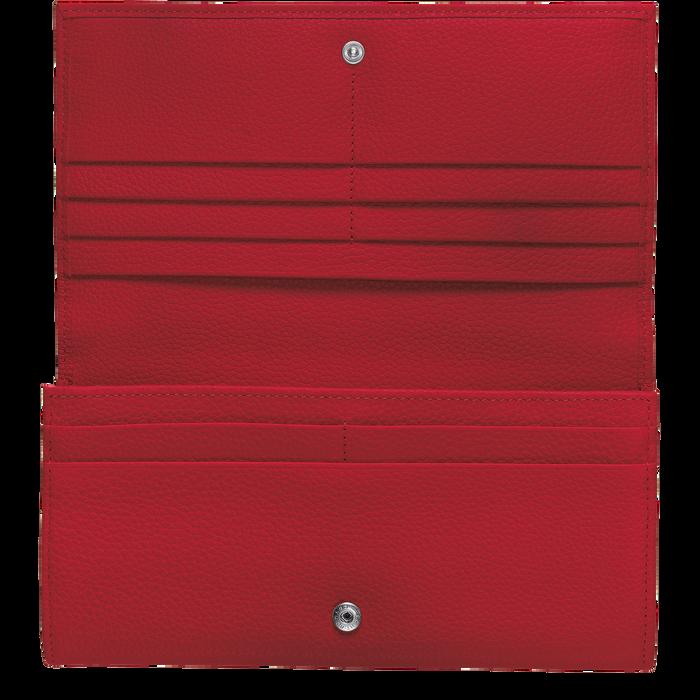 Portefeuille long à rabat Le Foulonné Rouge (L3146021545) | Longchamp FR