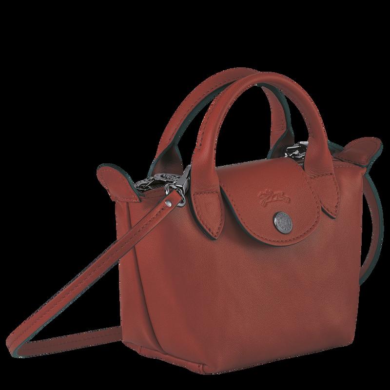 Le Pliage Cuir Crossbody bag, Sienna
