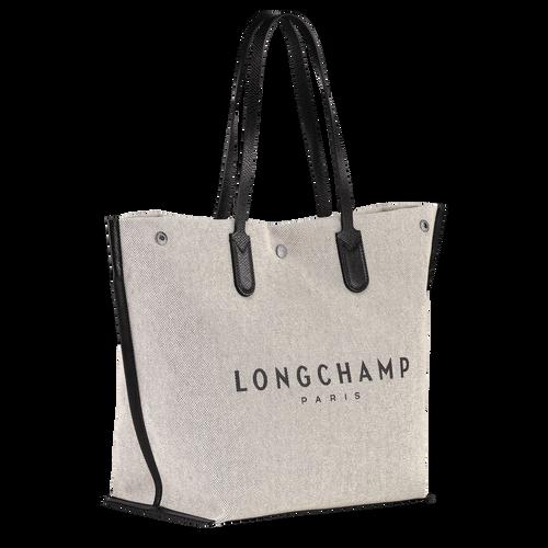 Shopping bag L Roseau Ecru (10090HSG037) | Longchamp US