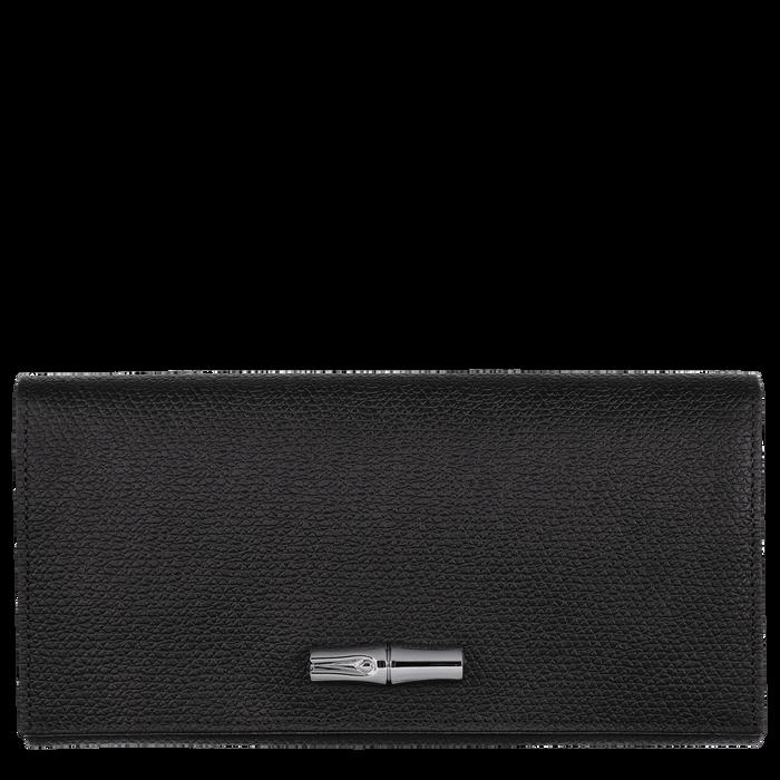 Roseau Long continental wallet, Black