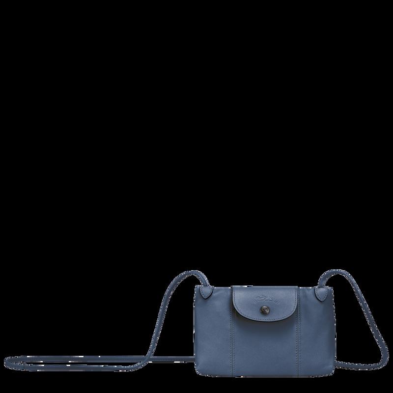 Le Pliage Cuir Crossbody bag, Pilot blue
