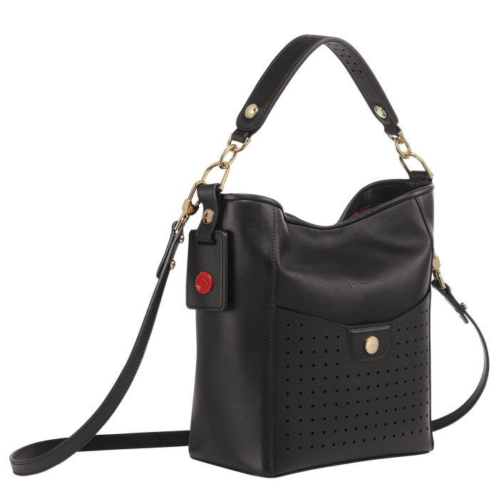 Bucket bag S, Black/Ebony - View 2 of  3 - zoom in