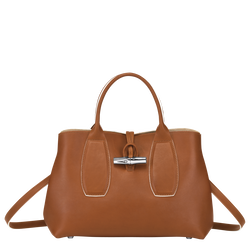 Tas met handgreep aan de bovenkant M, Cognac, hi-res