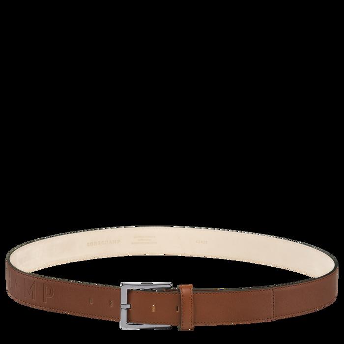 Longchamp 3D Men's belt, Cognac