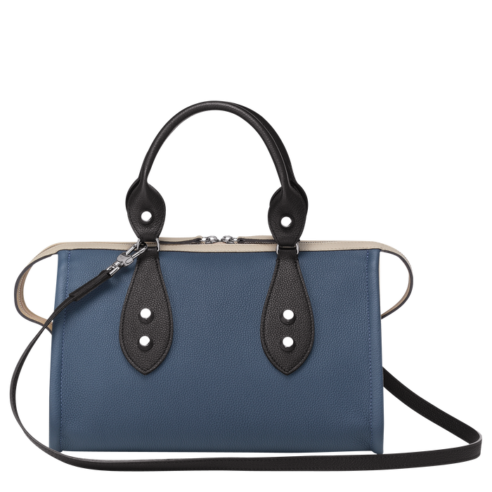 Top handle bag, Pilot Blue/Black/Chalk, hi-res - View 3 of 3