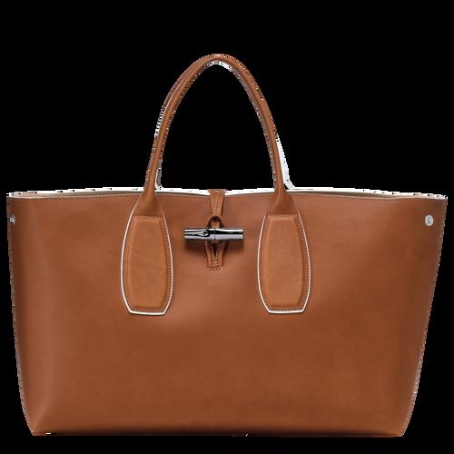 View 1 of Top handle bag L, Cognac, hi-res
