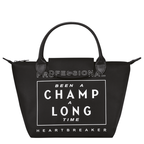 Longchamp x EU Top handle bag S, Black