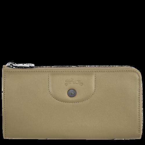 Long zip around wallet, Khaki - View 1 of 2 -