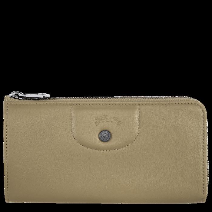 Long zip around wallet, Khaki - View 1 of 2 - zoom in