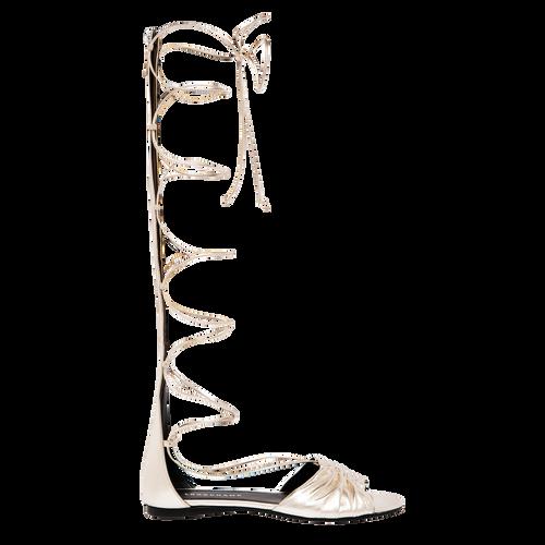 Flat sandals, Platinum, hi-res - View 1 of 2