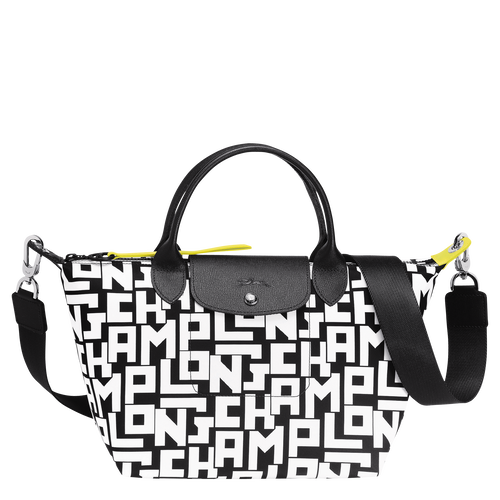 Top handle bag S, Black/White - View 1 of  4 -