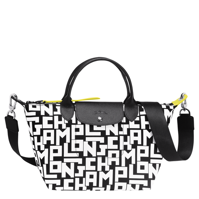 Top handle bag S, Black/White - View 1 of  4 - zoom in