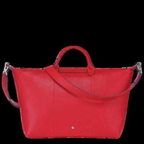 Le Pliage Cuir Travel bag L, Red