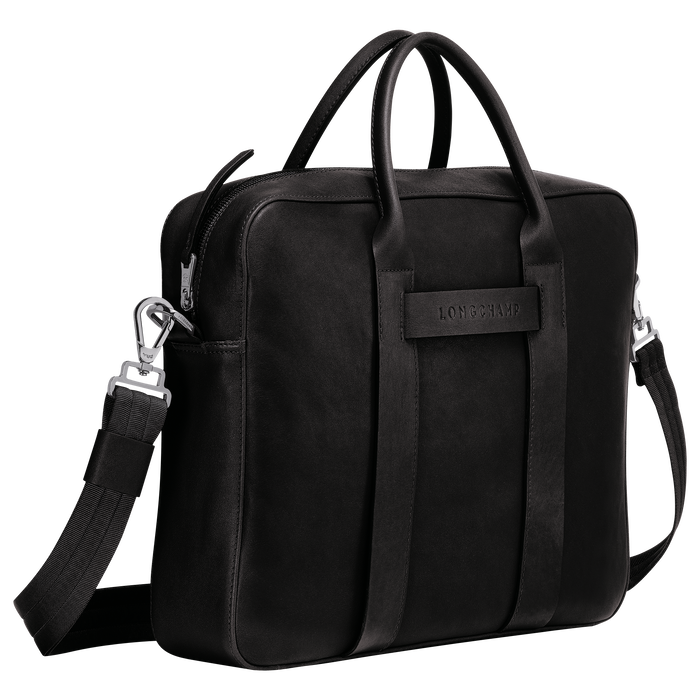 Briefcase M, Black/Ebony - View 2 of 3 - zoom in