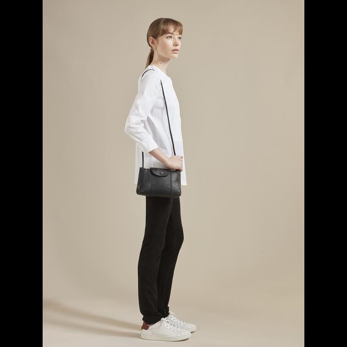 Crossbody bag Le Pliage Cuir Black (L1061757001) | Longchamp EN