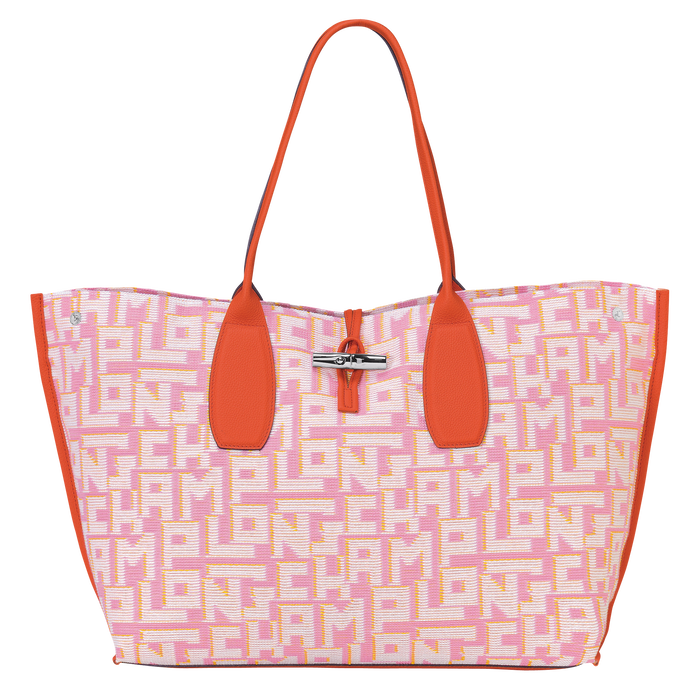 Sac shopping XL, Rose, hi-res - Vue 1 de 3