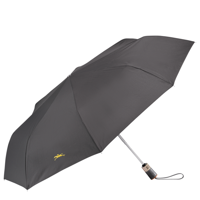 Retractable umbrella, Gun metal, hi-res - View 1 of 1