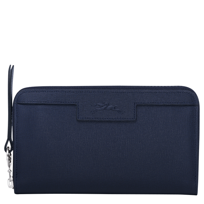 Le Pliage Néo Long wallet with zip around, Navy